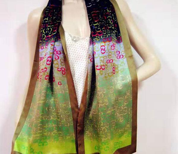 双层皱缎丝巾32 160