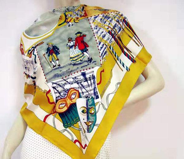 猎趣tv公司斜纹绸方巾90 90